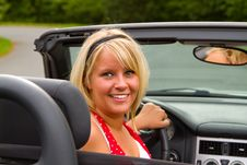 Free Beautiful Woman Driver Royalty Free Stock Photo - 21154585