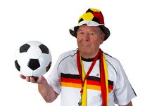 Free Senior Soccer Fan Royalty Free Stock Image - 21154716
