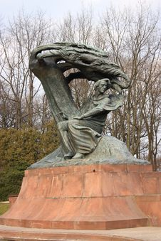 Free The Monument Of Fryderyk Chopin Stock Photography - 21154952