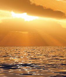 Free Beautiful Sunset Illustration Stock Images - 21154984