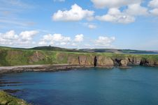 Bay At Dunnottar Castle Stock Photography