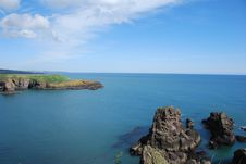 View From Dunnottar Castle Stock Image