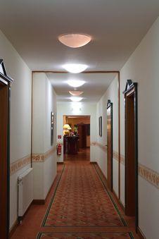 A Long Corridor Royalty Free Stock Photos