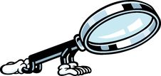 Free Magnifying Glass Guy Royalty Free Stock Image - 21156876