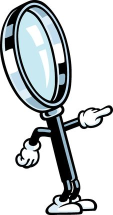 Free Magnifying Glass Guy Stock Image - 21156881