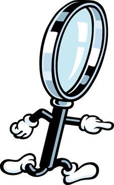 Free Magnifying Glass Guy Stock Photos - 21156883