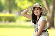 Free Asian Young Woman Smiling Stock Images - 21157754