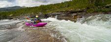 Free Kayaker In The Waterfall Stock Photo - 21157790