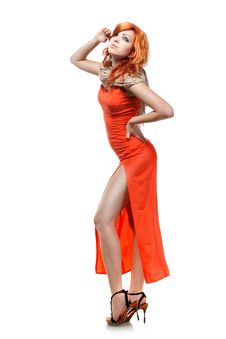 Free Sexy Woman In Red Dress Stock Photos - 21157883
