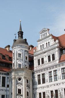 Free Beautifully Restored Building In Dresden Stock Images - 21158634