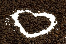 Free Coffee Heart Stock Photography - 21158822
