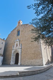 Saint Pierre Church At Ceret, France Stock Images