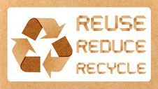 Recycle Logo With Recycle Concept Stock Photo