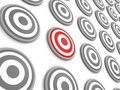 Free One Selected Target Concept Stock Image - 21167591