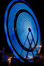 Free Ferris Wheel Electric Blue Color At Night Stock Photos - 21169843