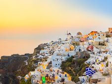 Free Santorini Sunset (Oia) - Greece Royalty Free Stock Photography - 21160177