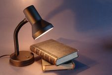 Free Books And Lamp Stock Photos - 21160423