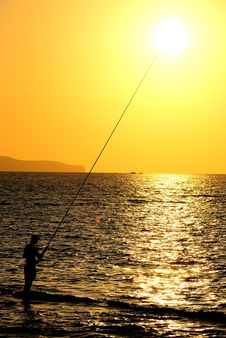 Sunset In Sicily Stock Image