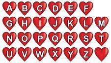 Free Red Heart Alphabet Stock Image - 21162011