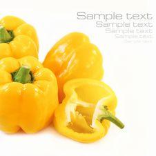 Free Yellow Pepper Stock Image - 21162421