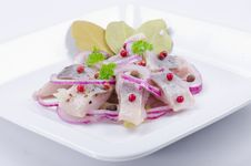 Free Pickled Herring Salad Stock Image - 21162601