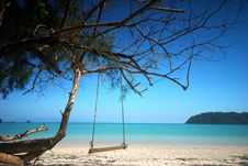 Free Swing On The Beach Royalty Free Stock Photo - 21163165