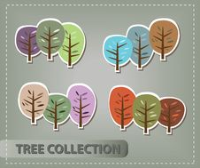 Tree Collection Royalty Free Stock Images