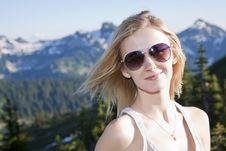 Free Blonde Girl Portrait Stock Photography - 21163402
