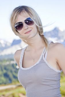Free Blonde Girl Portrait Stock Photos - 21163413