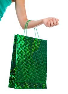 Free Female Hand Holding Shopping Bags Stock Photos - 21163673