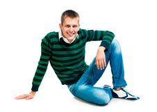 Free Young Man Looks Into The Camera Royalty Free Stock Photography - 21163737