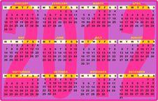 Free 2012 Calendar Fashion Stock Images - 21163744