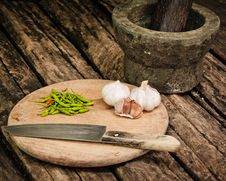 Herbs And Garlic Stock Photography