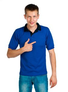 Free Man In Blue Uniforme Royalty Free Stock Photo - 21163775