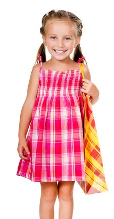 Free Little Girl With The Package Stock Photos - 21163913