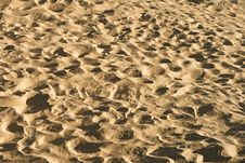 Free Sand Background With Traces Of Feet Stock Photos - 21163933