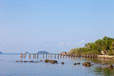 Bridge At Chang Island Stock Photography