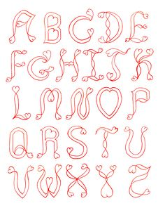 Free The Alphabet Hear Stock Photography - 21163972