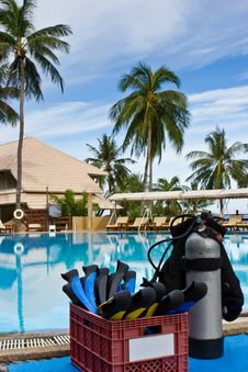 Free Scuba In The Pool Royalty Free Stock Photo - 21165105