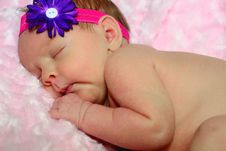 Newborn S First Photo Royalty Free Stock Photo