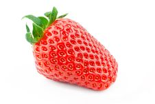 Free Beautiful Single Strawberry On A White Background. Stock Image - 21166301