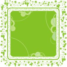 Green Grape Frame Royalty Free Stock Photography