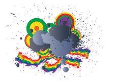 Free Dirty Rainbow Logo Royalty Free Stock Image - 21166686