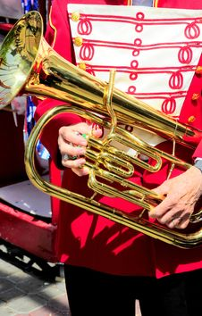 Free Marching Band Member. Royalty Free Stock Photography - 21166897