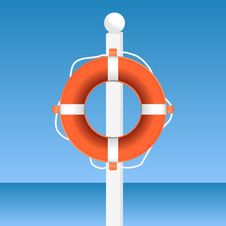 Free Lifebuoy Royalty Free Stock Photo - 21166905