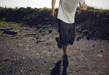 Free Running In Desert Royalty Free Stock Photos - 21167158
