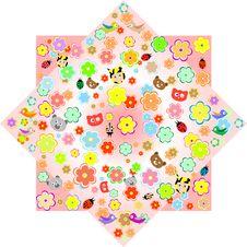 Free Cartoon Animals And Flowers Wallpaper Stock Image - 21167211