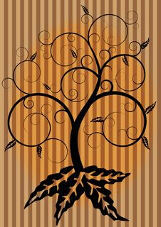 Free Swirl Tree In Autumn Royalty Free Stock Image - 21167676