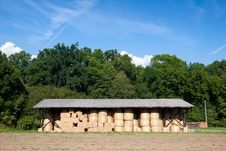 Free Storage Of Hay Bale Stock Photo - 21167790