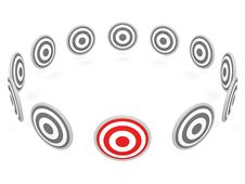 Free One Selected Red Target Stock Images - 21168194